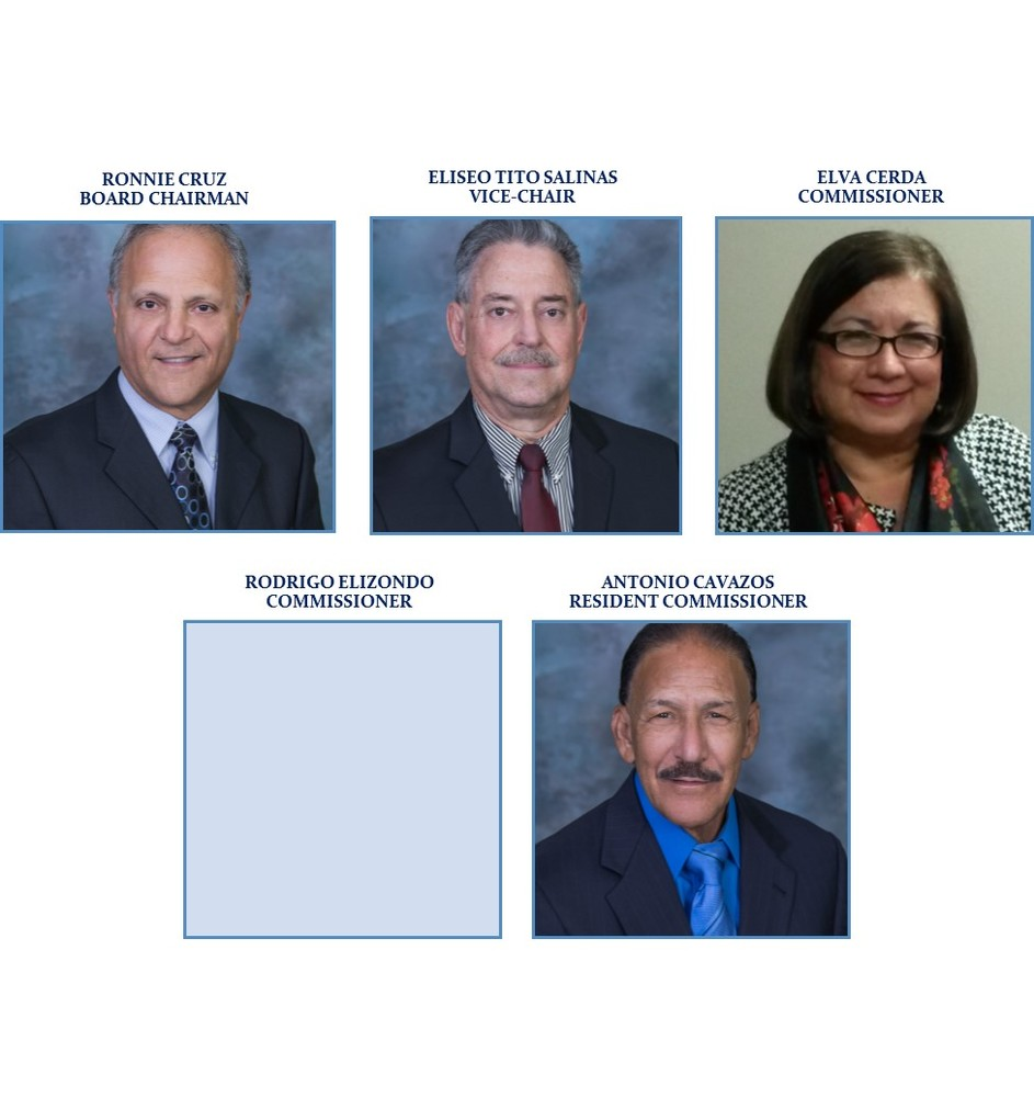 Collage of the 5 Commissioners
